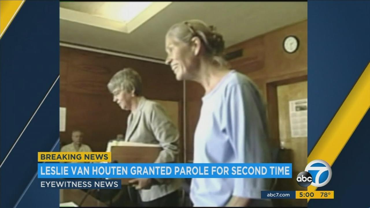Charles Manson follower Leslie Van Houten has been granted parole by the California board.