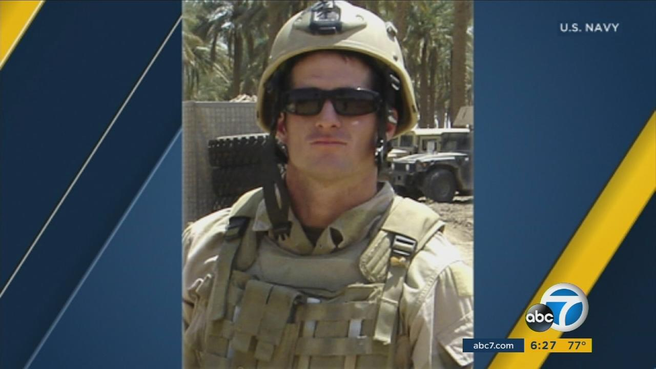 U.S. Navy SEAL Michael Monsoor, who sacrificed his life in Iraq by falling onto a grenade to save his teammates.