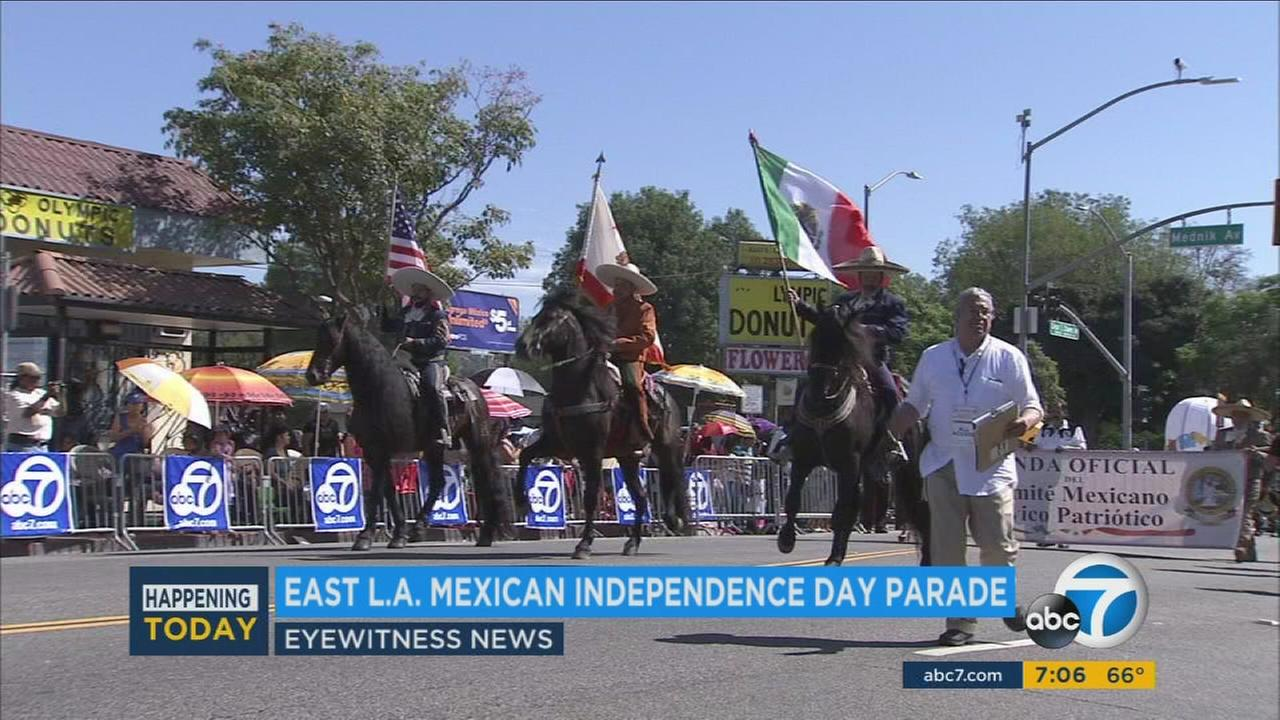 An undated photo of the East Los Angeles Mexican Independence Day Parade.