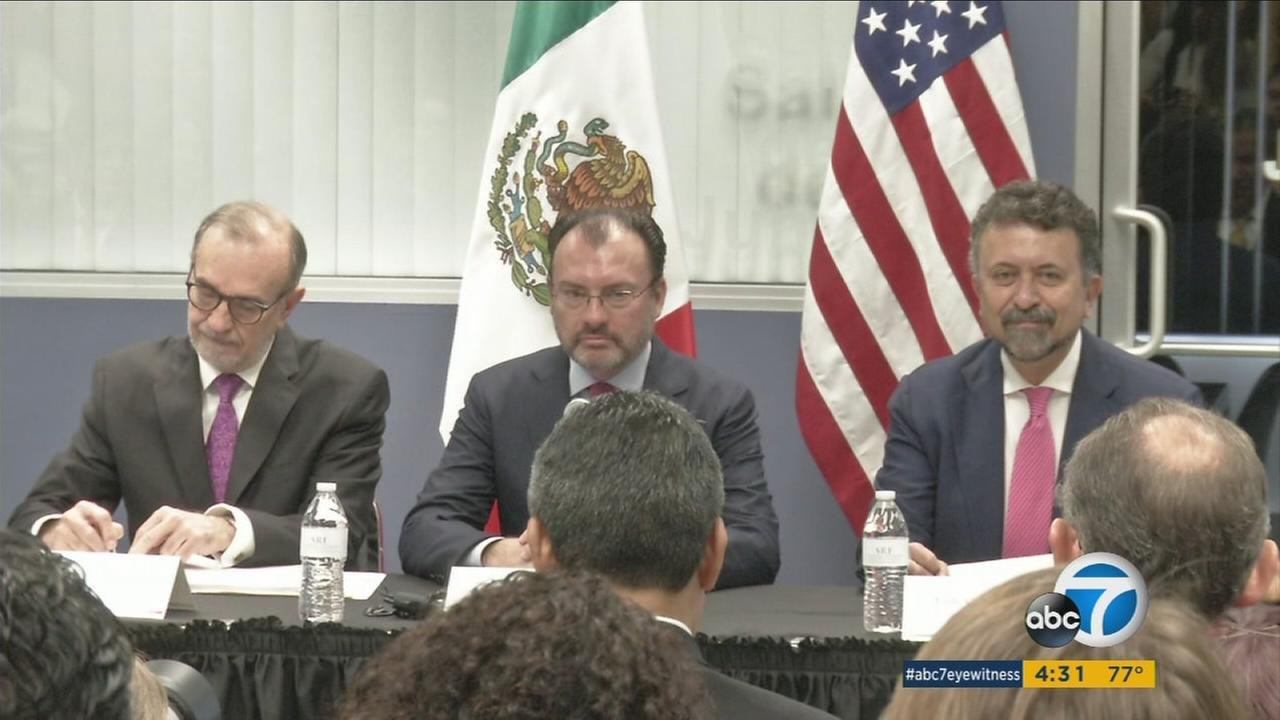 Secretary of Foreign Affairs of Mexico Luis Videgaray Caso joins Mexican officials to announce services for DREAMers and other undocumented immigrants.