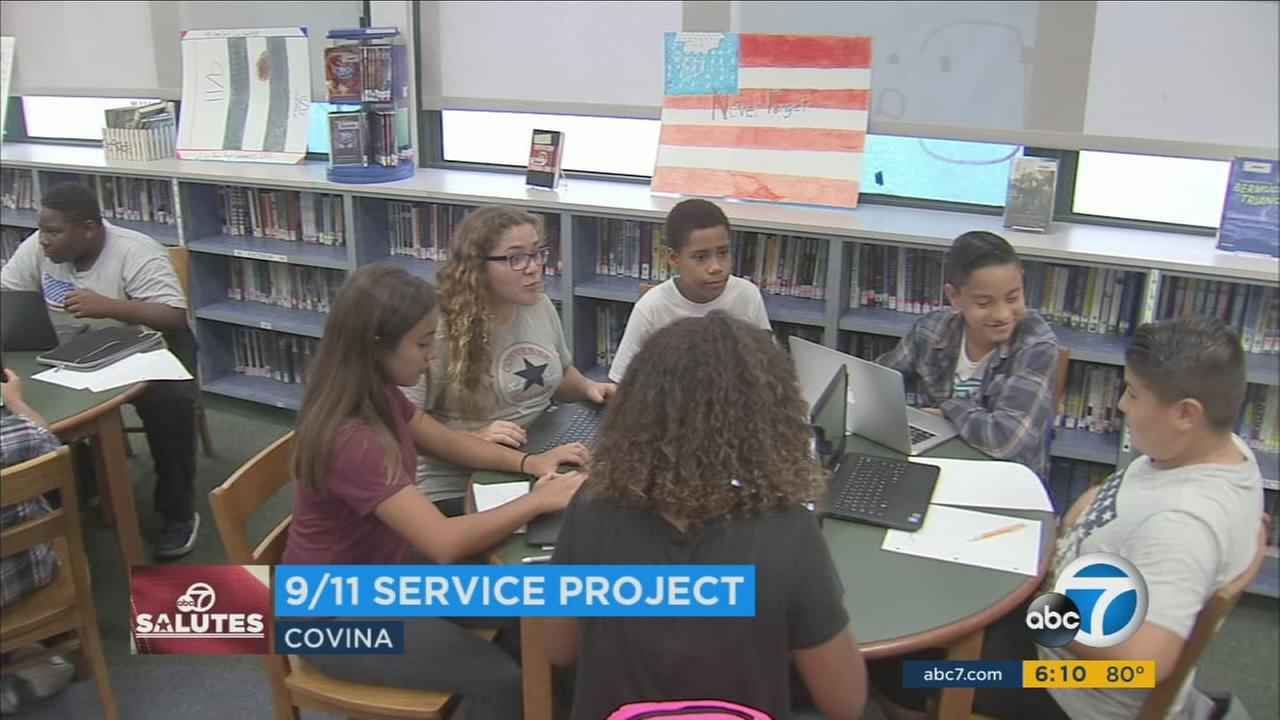 A group of 400 8th graders in Covina are creating printed archives to recognize 99 congressional Medal of Honor recipients, a project that will go on display in a Maine museum.