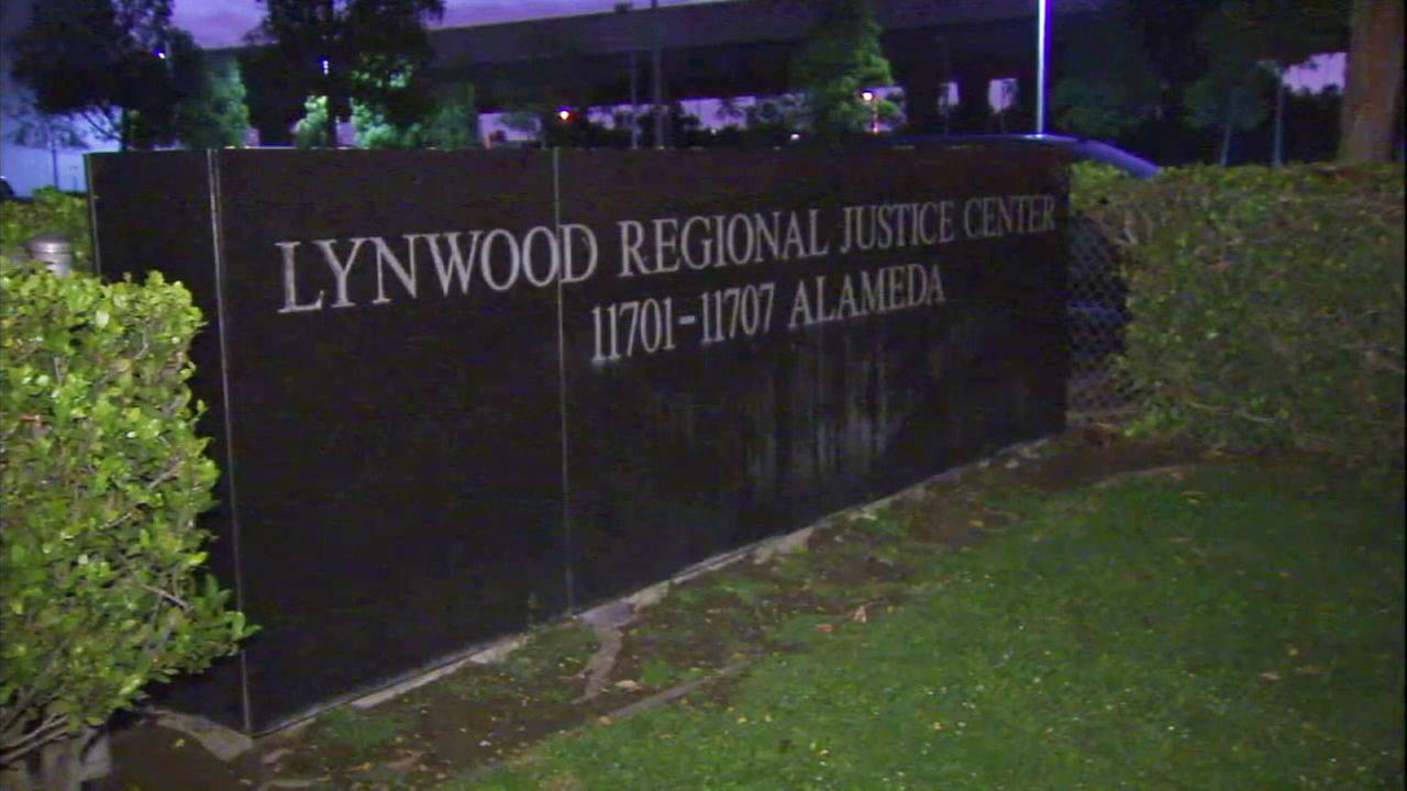 An undated photo of a sign outside the Century Regional Detention Facility in Lynwood, where a deputy is accused of sexually assaulting two inmates.