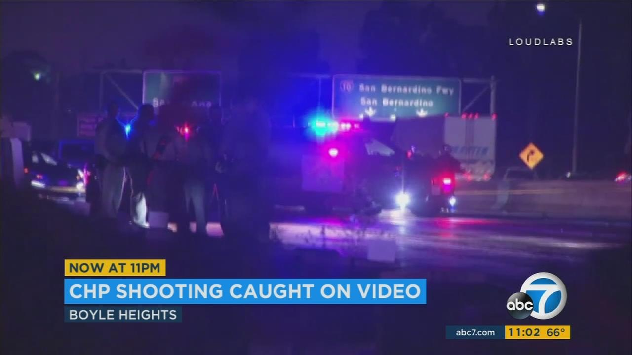 California Highway Patrol officers shot and killed a man armed with a knife on the 5 Freeway in Boyle Heights, prompting a closure of all northbound lanes that lasted more than 11 hours.
