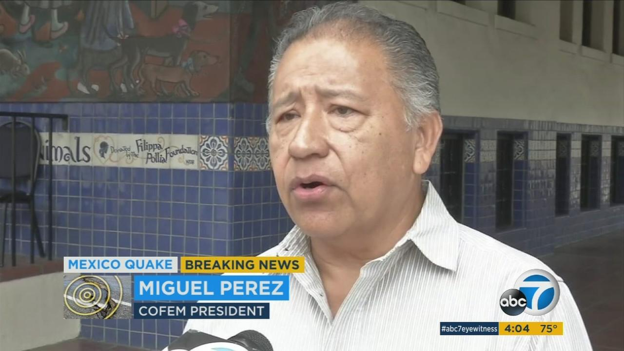 I can see totally all the needs that they are having right now, said COFEM President Miguel Perez, and I urge all the organizations here in Los Angeles to help them.