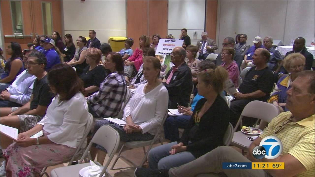 Residents from Torrance packed a town hall meeting hosted by ABC7 as top executives listened to input on the stations news coverage.