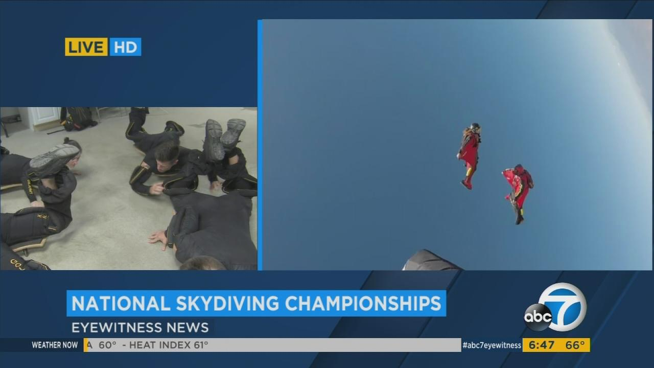 The U.S. Armys Golden Knights aerial parachute demonstration team on Thursday continued preparing to compete in the National Skydiving Championships.