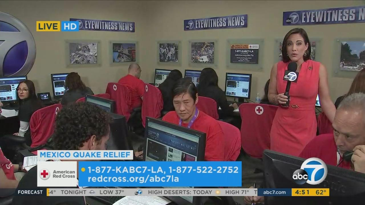 Join ABC7 and the American Red Cross to benefit those impacted by the devastating earthquake in Mexico.