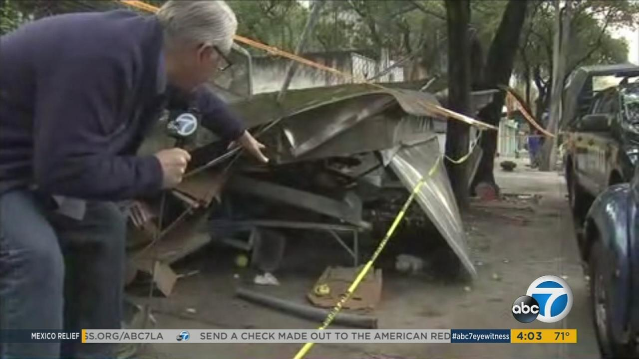 ABC7 reporter Carlos Granda showed rubble and collapsed building in Mexico after a massive earthquake struck the region a few days ago.