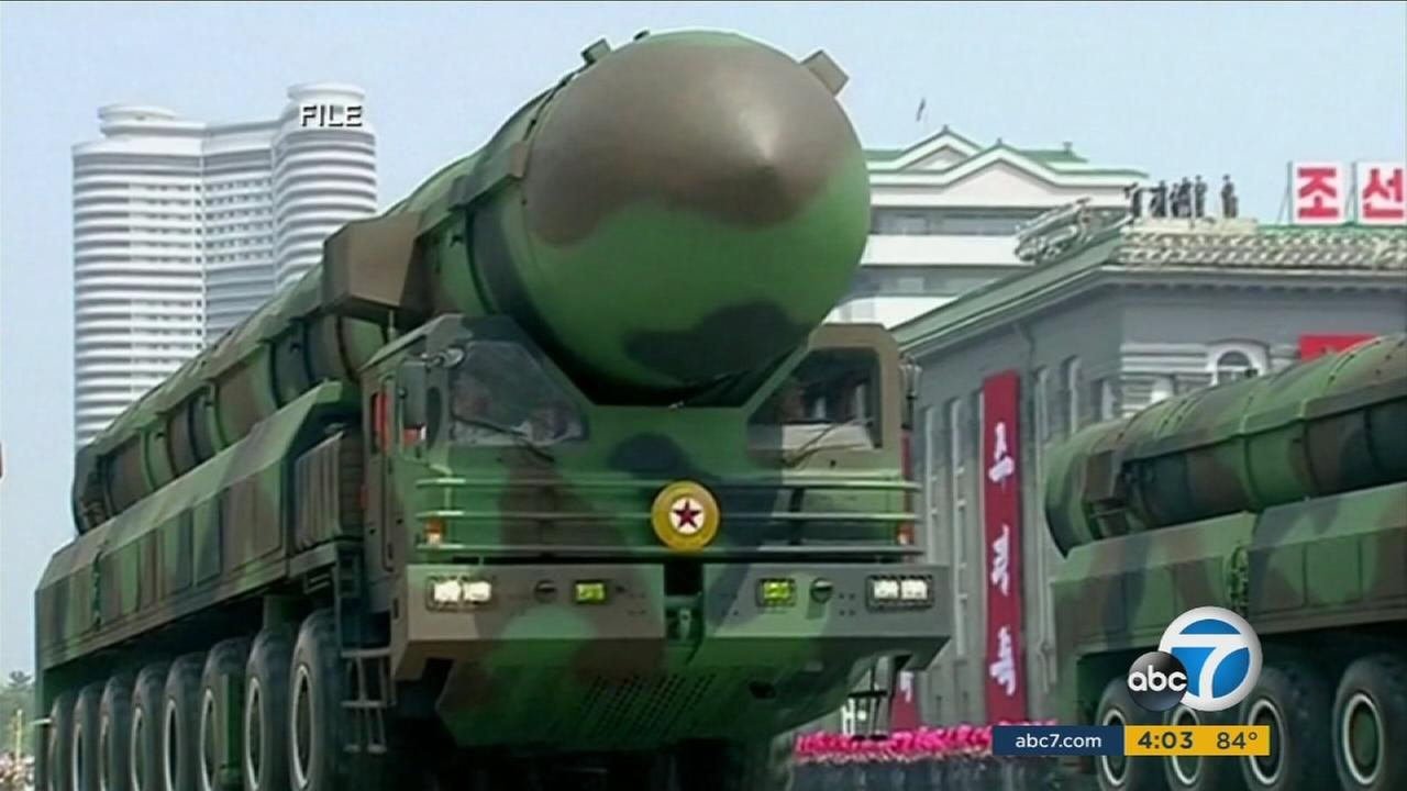 A North Korean missile is shown.