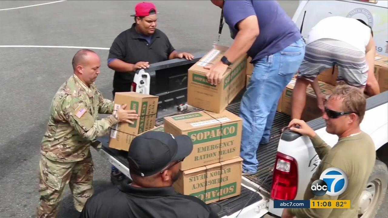 People gather supplies to send to hurricane-ravaged Puerto Rico.