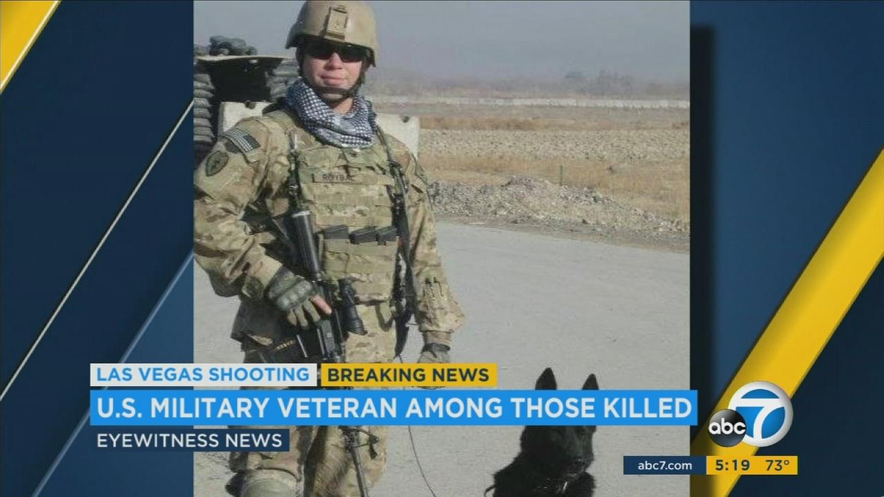 An undated photo of Chris Roybal, a U.S. military veteran who survived war in the Middle East and lost his life in the Las Vegas mass shooting.KABC