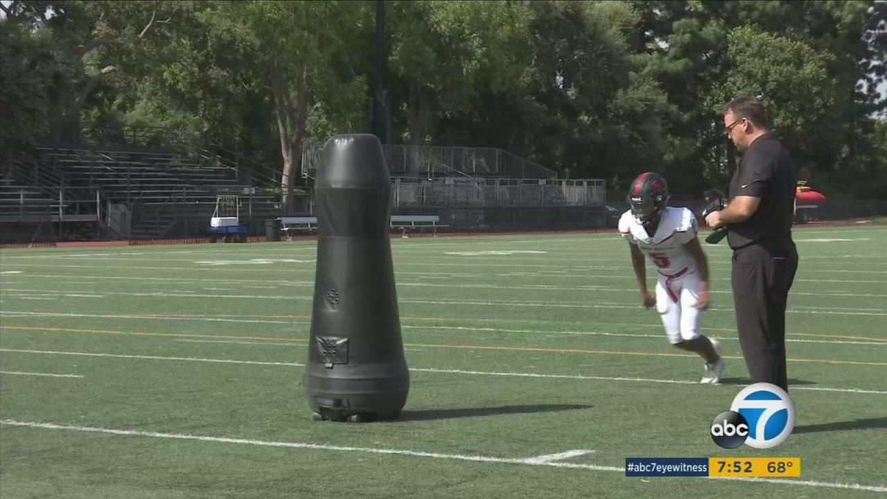 Harvard-Westlake School uses remote-control dummies to increase players safety