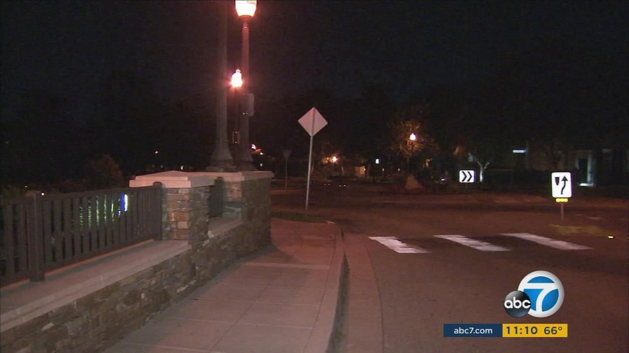 The intersection where a man tried to kidnap a 12-year-old Santa Clarita girl is shown in a photo.