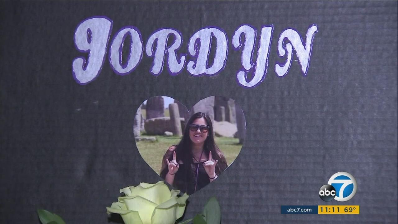 Jordyn Rivera, a local 21-year-old student killed in the Las Vegas mass shooting, was remembered at a candlelight vigil in La Verne Saturday night.