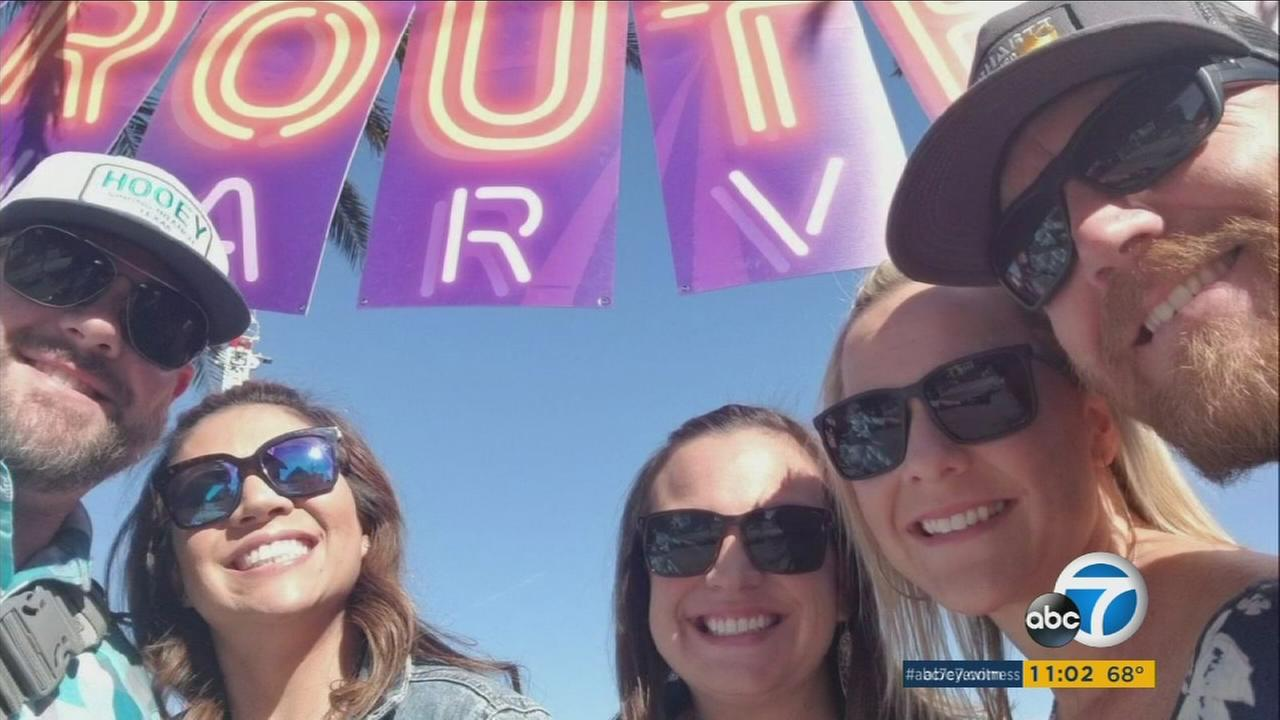 Nicol Kimura seen with her friends at the Route 91 Harvest Festival before the deadly shooting on Sunday, Oct. 1, 2017.