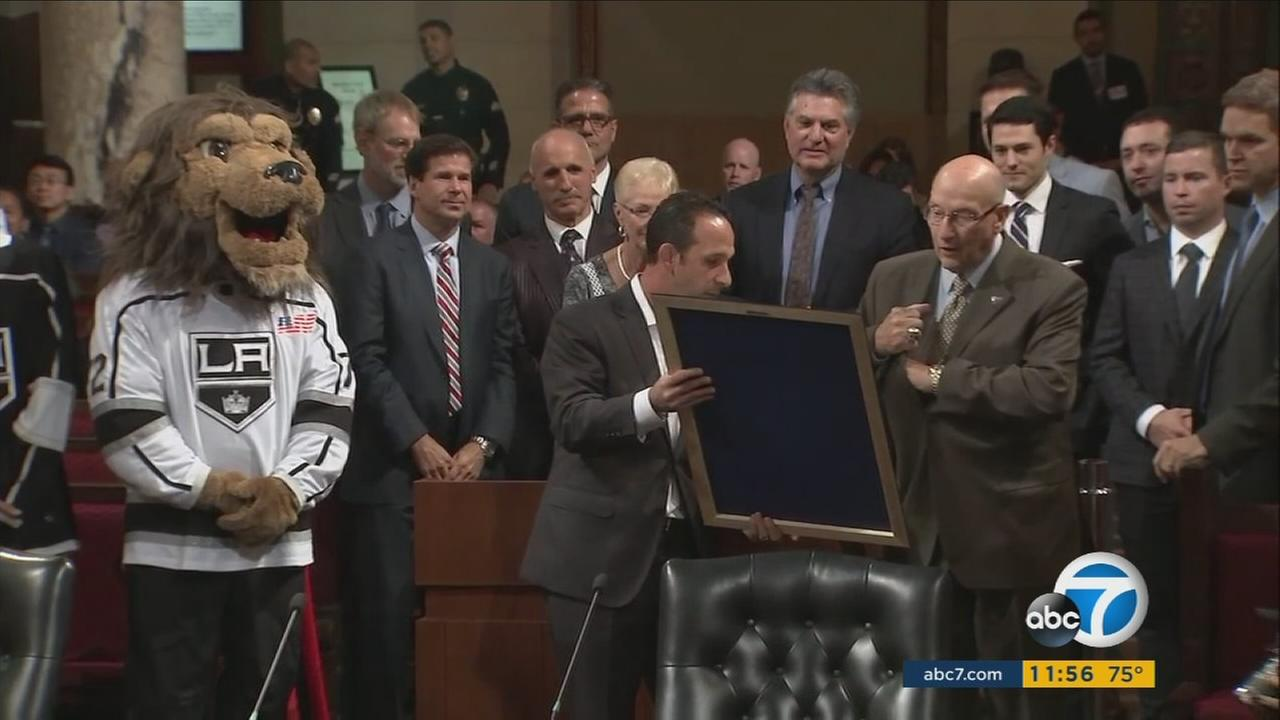 The City Council declared Bob Miller Day in Los Angeles to honor the longtime LA Kings broadcaster.