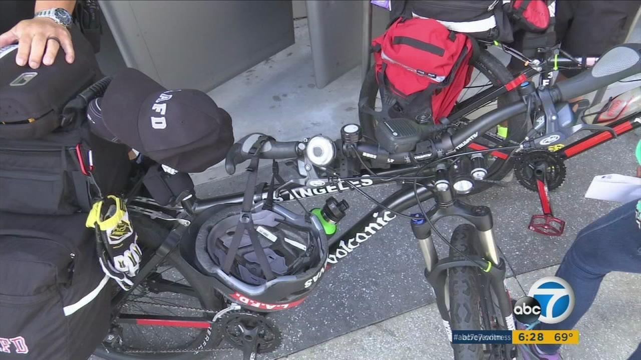 LAFD bikes being used for personnel patrolling Los Angeles International Airport.