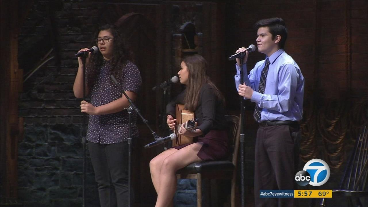 Hamilton is selling out the Pantages Theatre in Hollywood, but on Thursday, the cast put on a special free performance for 2,600 high school students from LA neighborhoods.