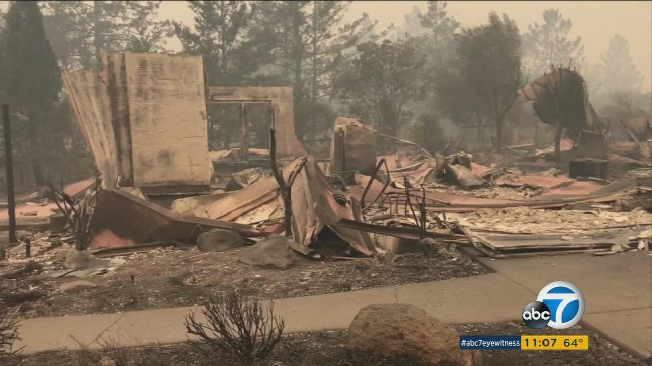 Destruction seen from the deadly Northern California fires.