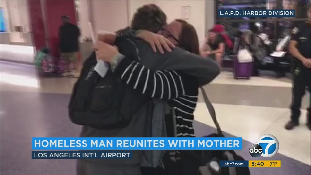A Los Angeles son was reunited with his mother in Chicago Wednesday after 10 years, thanks to the efforts of homeless advocates and the Los Angeles Police Department.