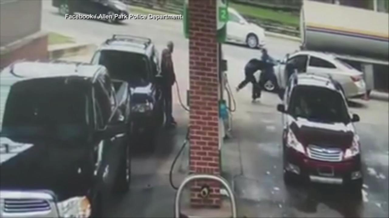 A truck driver wrestled with a suspect and helped thwart a carjacking in Allen Park, Michigan.