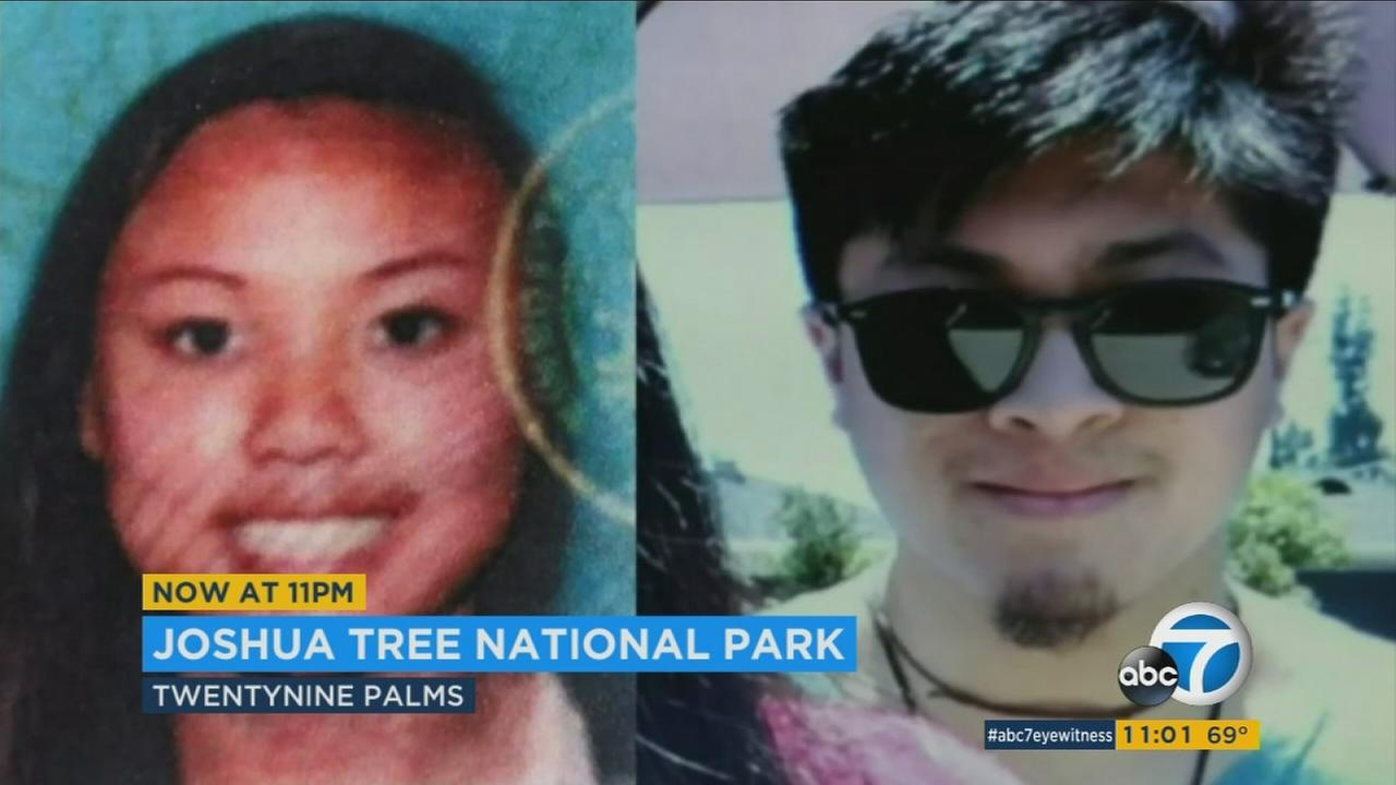 Authorities at Joshua Tree National Park believe they have found the bodies of missing hikers Rachel Nguyen, 20, of Westminster and Joseph Orbeso, 21, of Lakewood.