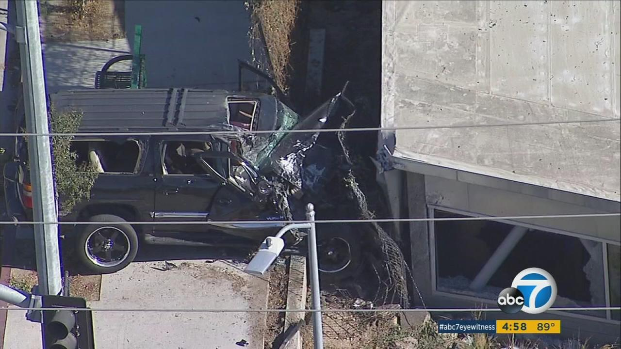 A person was shot and killed inside an SUV in Lake View Terrace, sending the vehicle crashing into the back of the Discovery Cube childrens museum, police said.