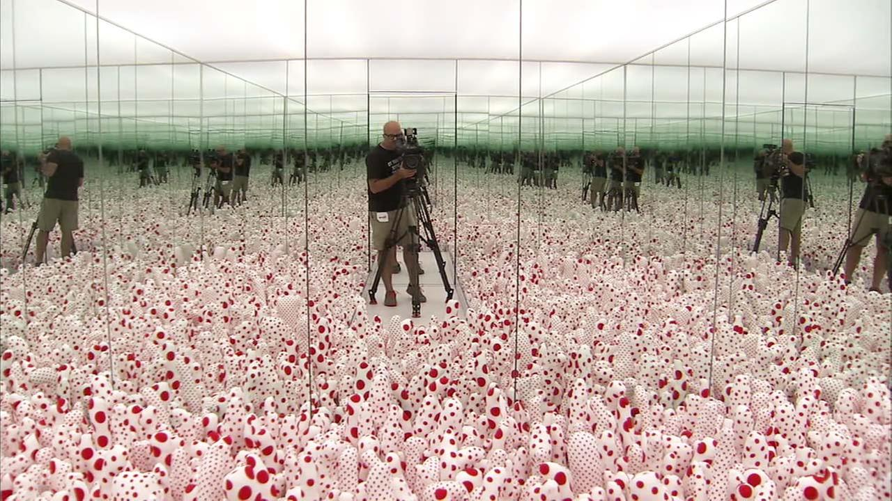 The Broads highly anticipated special exhibition, Yayoi Kusama: Infinity Mirrors, allows visitors to experience the concept of infinity through a number of immersive rooms.