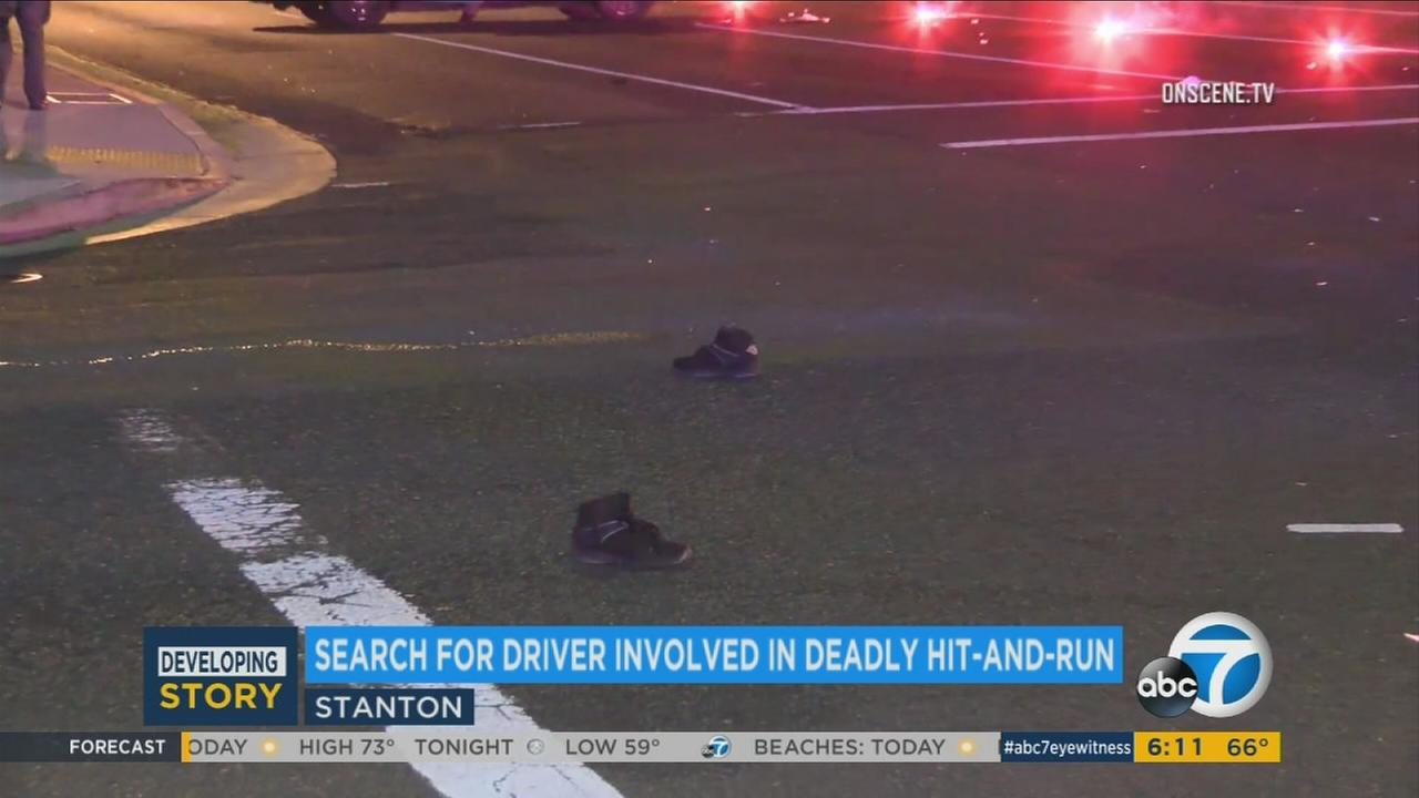The search is on in for a driver involved in a deadly hit-and-run in Stanton.