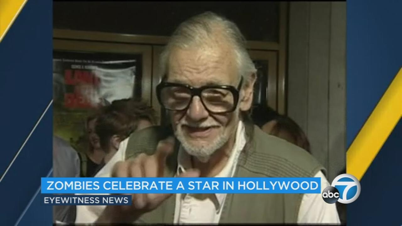 Filmmaker George Romero just scared up a star on the Hollywood Walk of Fame.
