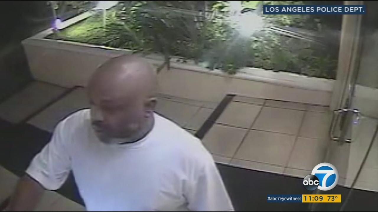 A West Los Angeles serial burglar is shown in a photo. He is seen without his trademark mask.