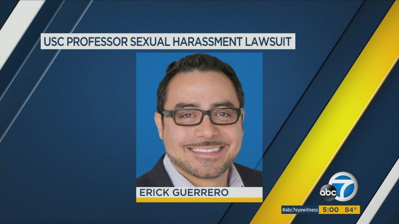 A USC grad student is alleging professor Erick Guerrero made inappropriate sexual advances.