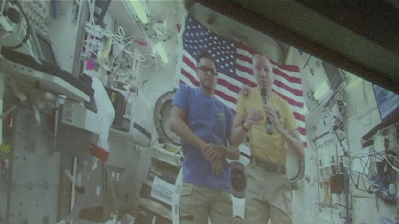 NASA Astronaut Randy Bresnik used to walk the grounds of Santa Monica High School, but today, he is floating on the International Space Station.