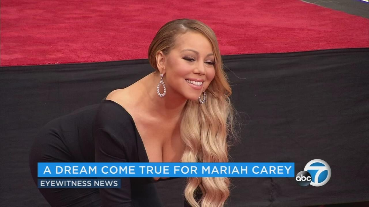 Superstar singer-songwriter Mariah Carey has cemented herself in Hollywood history.