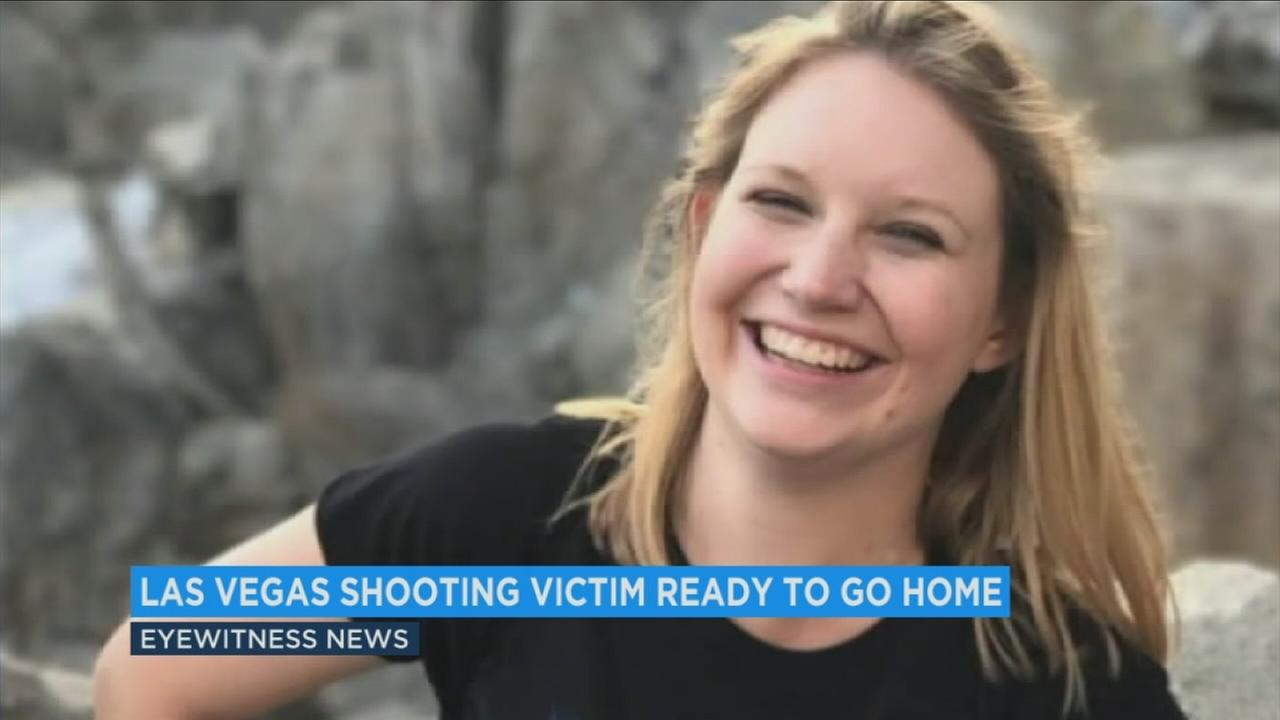 Vegas shooting victim heads home after hospitalization