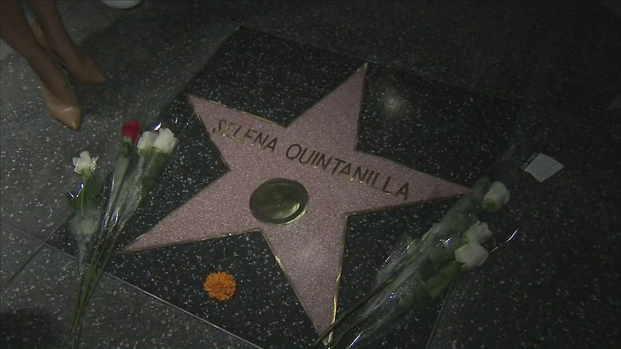 Selena Quintanillas star on the Hollywood Walk of Fame is shown in a photo when it was unveiled on Friday, Nov. 3, 2017.
