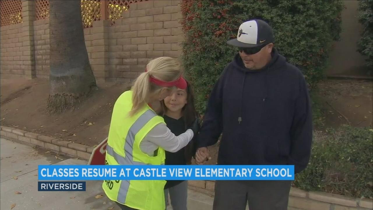 It was the first day back to school for students at Castle View Elementary in Riverside.