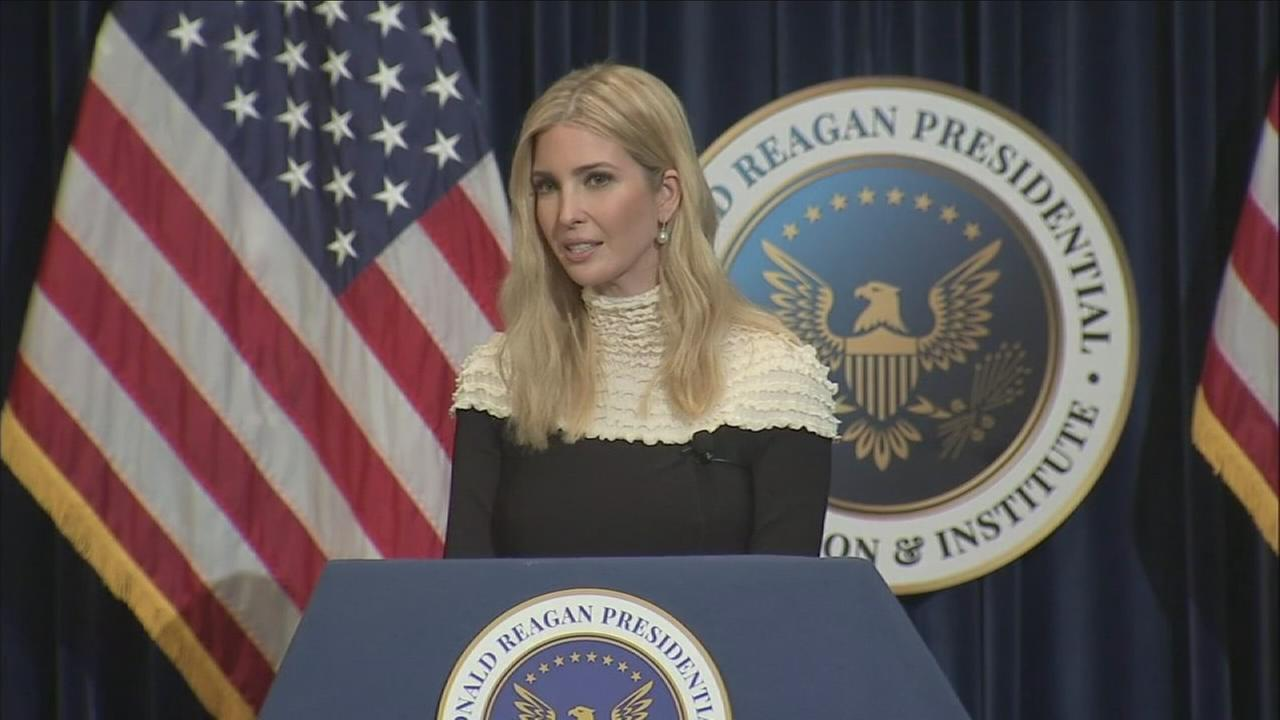 Ivanka Trump and Treasury Secretary Steven Mnuchin appeared Sunday at the Ronald Reagan Presidential Library in Simi Valley to discuss tax reform.