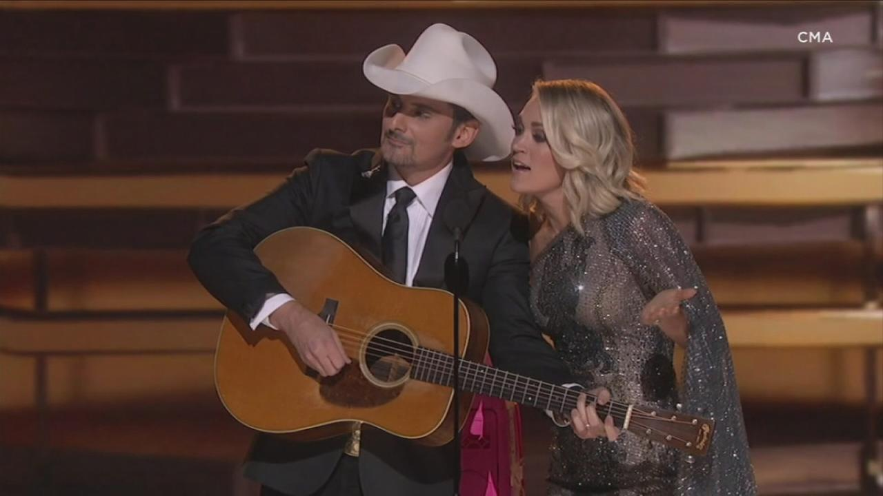 Brad Paisley and Carrie Underwood plan a respectful, inclusive and uplifting night as hosts of the CMA Awards.