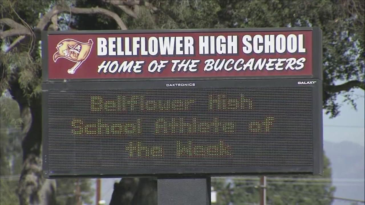 Bellflower High School is seeing increased security on Wednesday after a threat against the school was made on social media.
