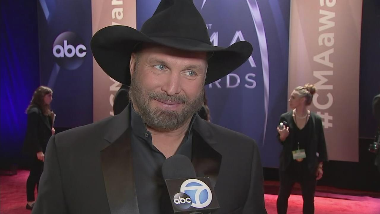 County music mega-stars Garth Brooks and Keith Urban shared the red carpet with newcomers at the 51st CMA Awards.