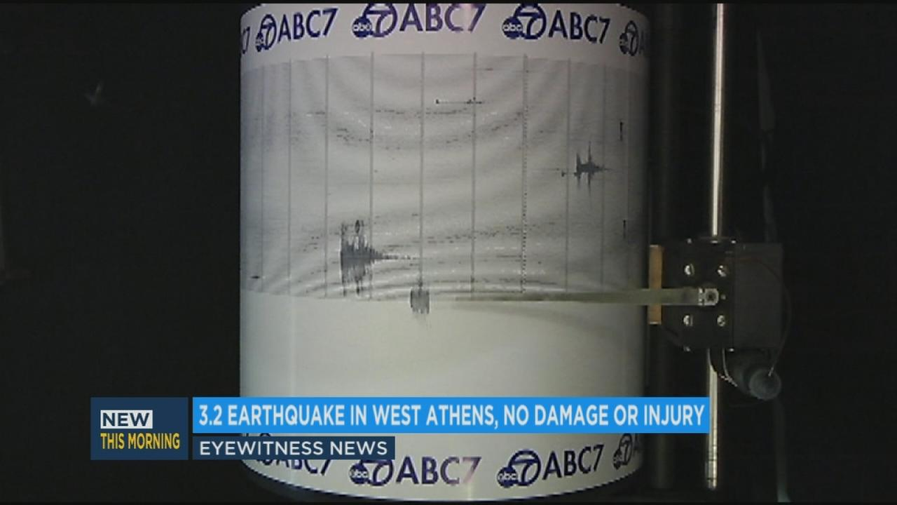 The ABC7 quake cam captured shaking from a 3.2-magnitude earthquake that rattled the West Athens neighborhood early Friday morning.