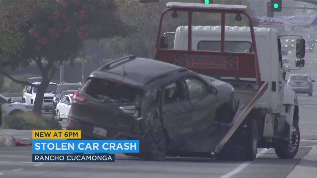 Three stolen car suspects were arrested by Rancho Cucamonga Police after a bizarre set of circumstances that involved a vehicle collision and an alleged kidnapping.