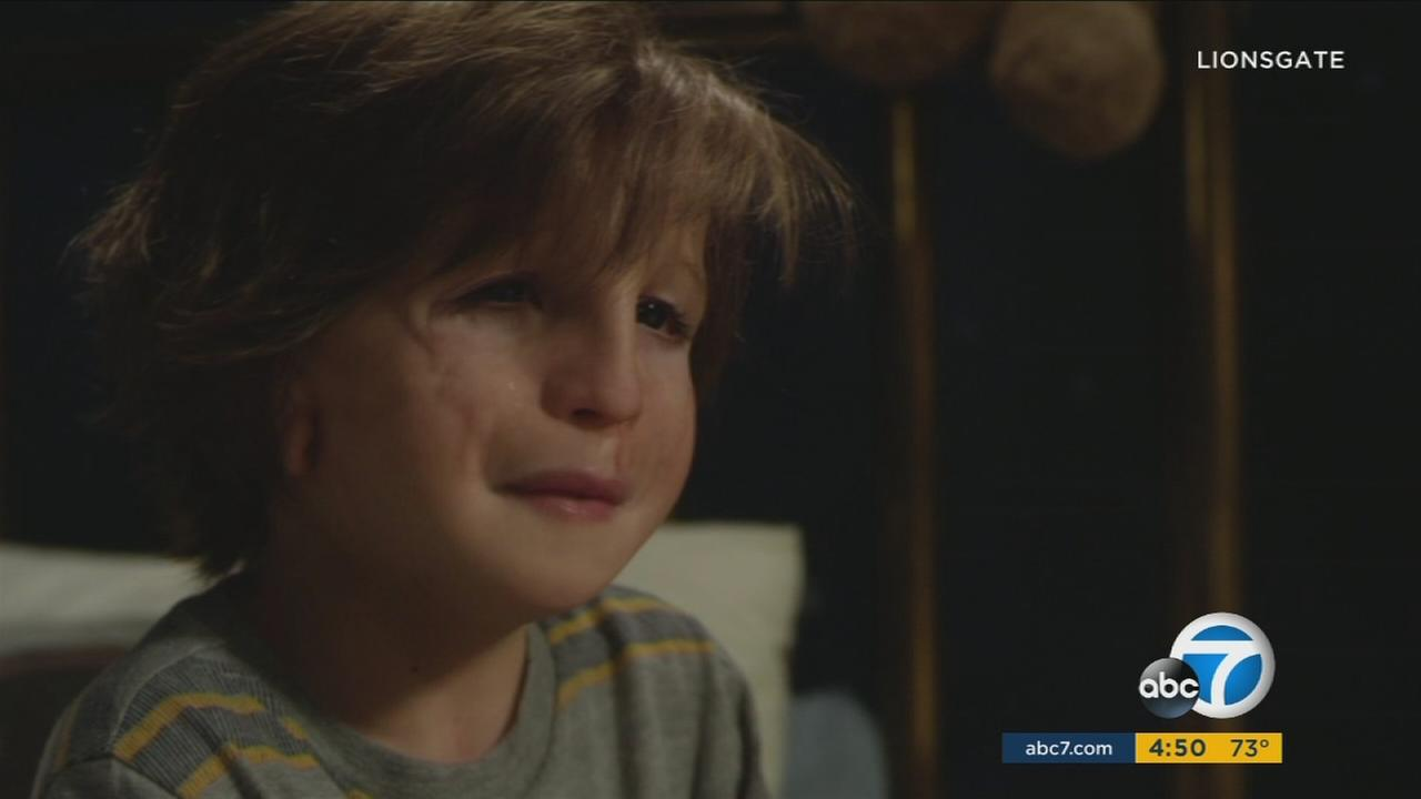 Jacob Tremblay is shown as his character in the new movie, Wonder.