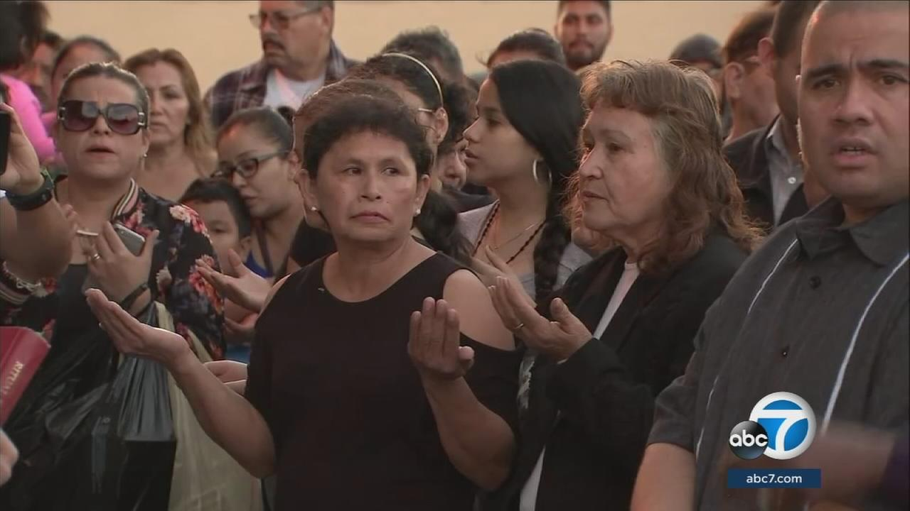 Community members gathered to remember and honor the lives of two young brothers killed in a crash involving a sheriffs department vehicle in Boyle Heights.