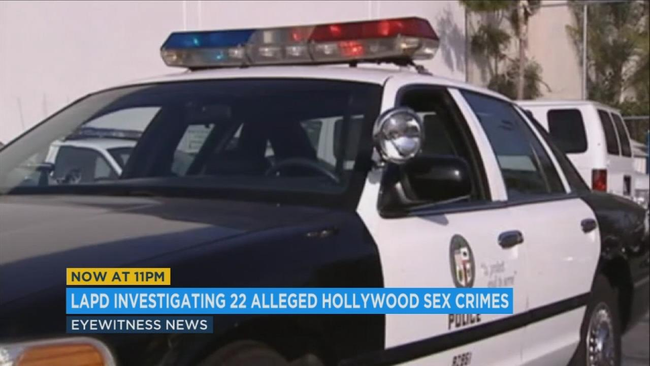 The LAPD is investigating 22 cases of suspected sex-crimes linked to entertainment industry figures, according to a source in the department.