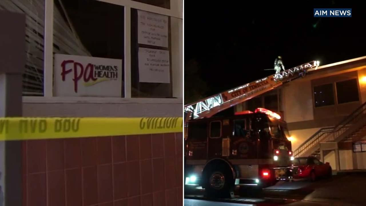 An investigation is underway after a womens clinic in Temecula caught fire on Wednesday, Nov. 22, 2017.