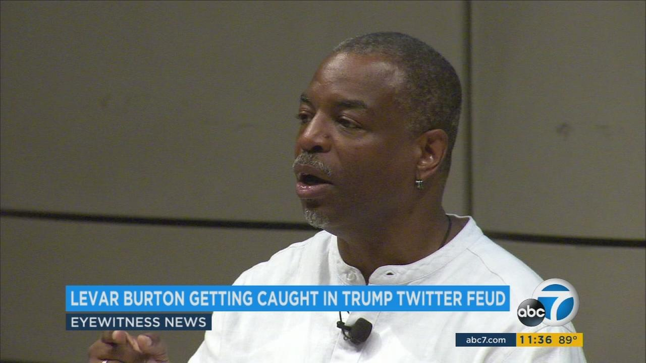 Reading Rainbow and Star Trek star LeVar Burton is now getting dragged into the feud between President Donald Trump and basketball father LaVar Ball.