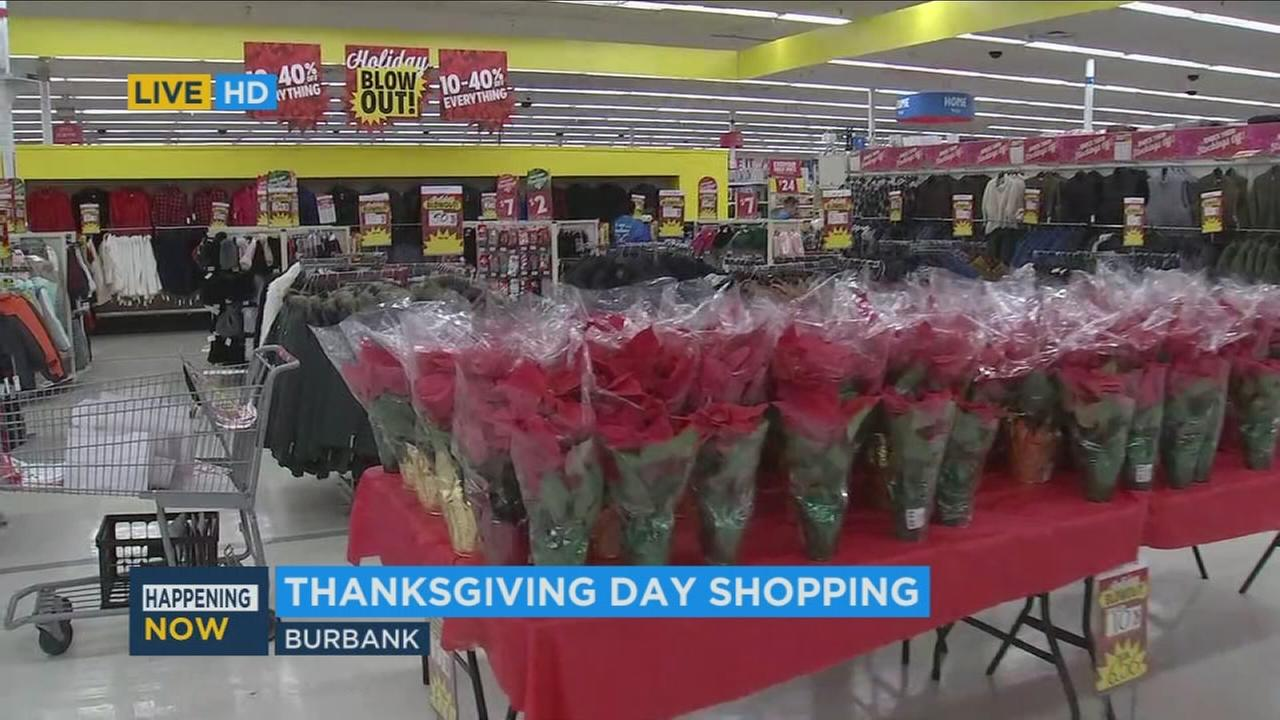 Displays are shown inside a Burbank Kmart moments before the doors opened to customers already waiting outside in the early morning hours of Thanksgiving, Thursday, Nov. 23, 2017.