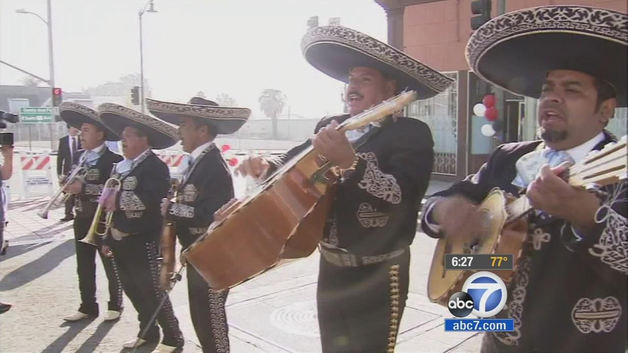 Mariachi musicians perform at Mariachi Plaza in Boyle Heights in this undated file photo.